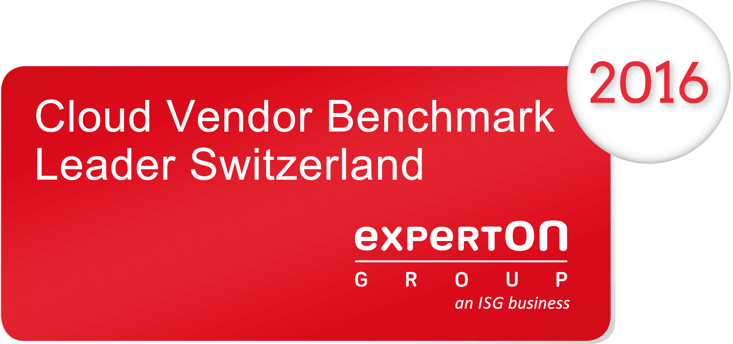 Leader Switzerland – 2016 Cloud Vendor Benchmark