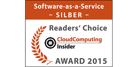 "Winner – 2015 CloudComputing-Insider Readers' Choice in the category ""SaaS"""