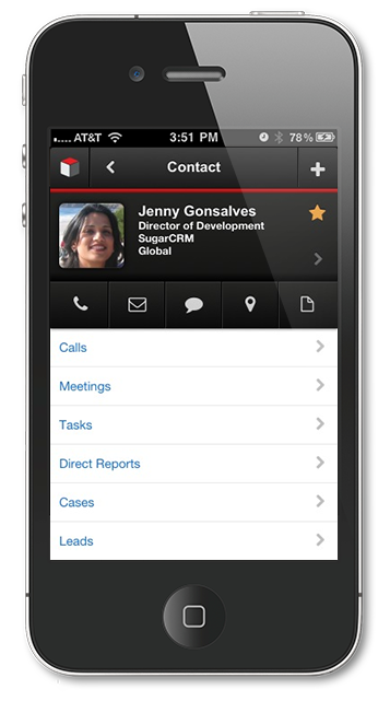 SugarCRM Mobile Contact