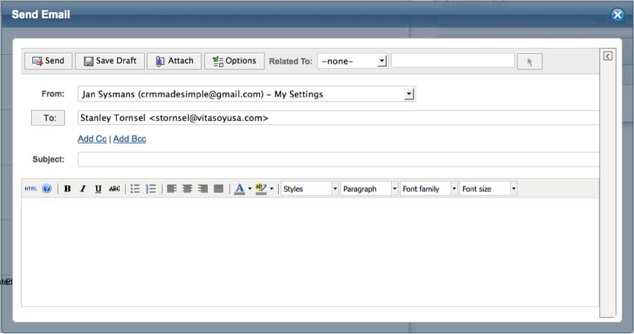 how to use gmail to send email directly from exel